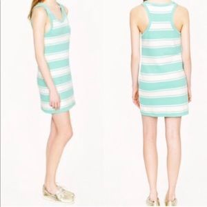 J. Crew Mint & White Sundress